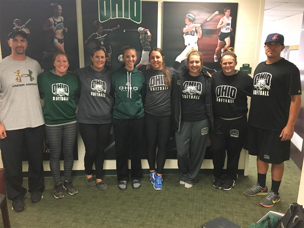 Holly Brehm, class of 2019, made her verbal commitment to play collegiate softball at Ohio University 'The Bobcats' on October 14, 2016