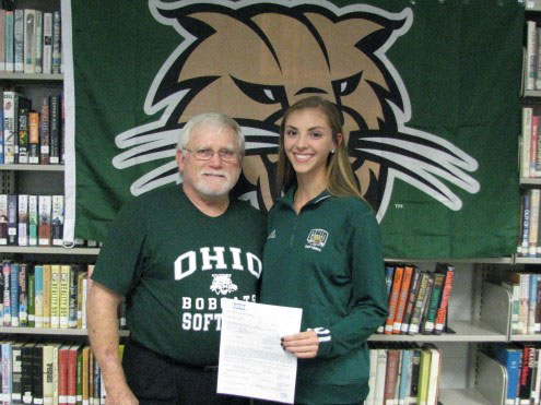 Jerry and Holly, After Signing Her Letter of Intent on November 14, 2018 to Attend Ohio University for 2019-2020